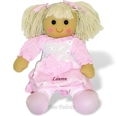 Personalised Rag Doll 40cm Birthday Christmas Flower Girl SPECIAL OFFER