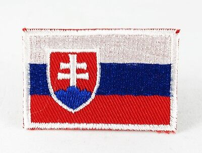 Slovakia National Country Flag Medium Iron/Sew On Patch Embroidered