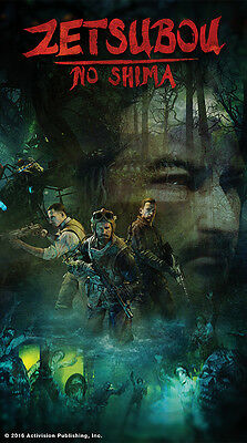 CALL OF DUTY Black Ops 3 Zetsubou No Shima Art Poster Easter Egg Zombies  Silk