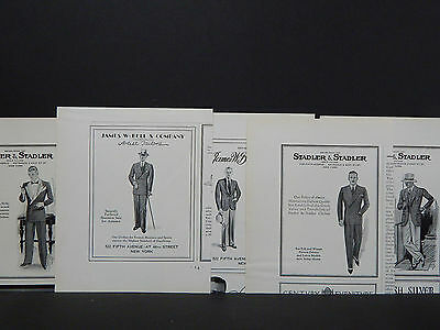 Vintage Men's Clothing Ads, Menswear, 1930's, 20 Ads! - Just $2 Each!
