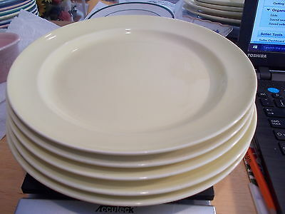 5 Taylor Smith LuRay Pastels YELLOW Luncheon Plates - #10