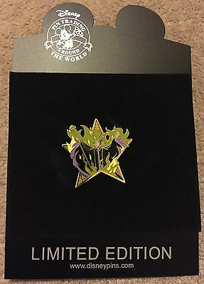 Disney Shopping Hollywood Gold Star Maleficent LE 1000 Pin NEW ON CARD NOC
