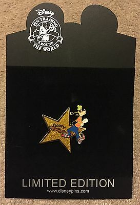 Disney Shopping Hollywood Gold Star Series Goofy LE 1000 Pin NEW ON CARD NOC