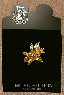 Disney Shopping Hollywood Gold Star Series Sorcerer Mickey LE 1000 Pin NEW NOC