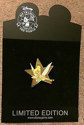 Disney Shopping Hollywood Gold Star Series Tinker Bell LE Pin NEW ON CARD NOC