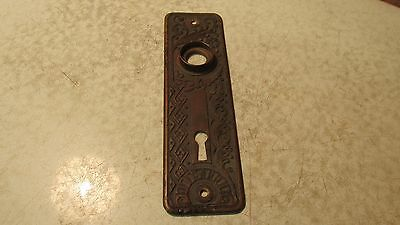 Antique Brass Eastlake Door Plate No. 36