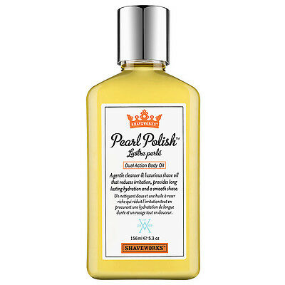 Shaveworks Pearl Polish Dual Action Body Oil, 5.3 oz.