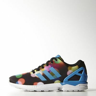 530f2bcaf NEW MEN S ADIDAS Originals Zx Flux  B23984  Core Black  bright Blue ...