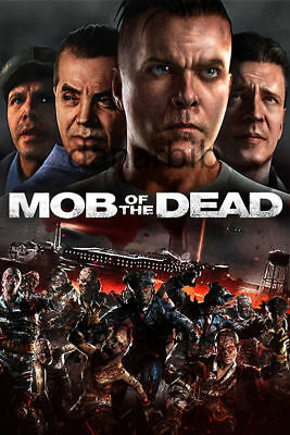"""Call Of Duty Black Ops 2 Mob Of The Dead Poster 42x28"""" 36x24"""" 20x13"""" Zombie Silk"""