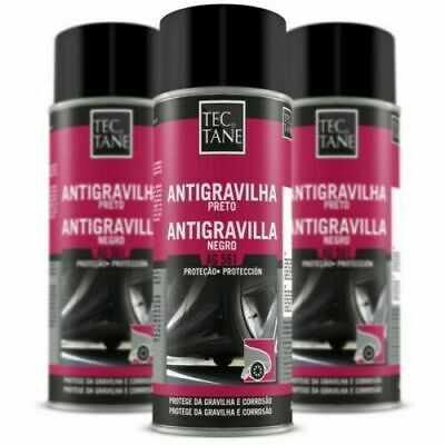 Pack 3 Spray Antigravilla 400 Ml De Color Negro,Protector Bajos De Coches