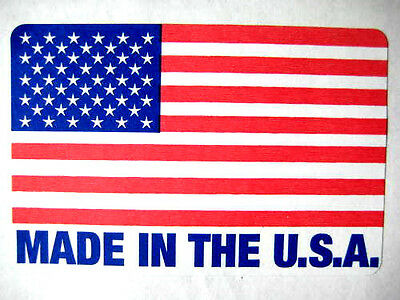 500 2 x 3 MADE IN THE USA / USA FLAG LABEL STICKER