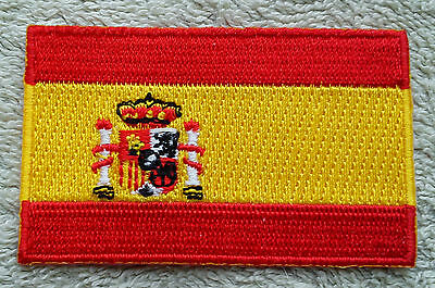 SPAIN FLAG PATCH Embroidered Badge Iron or Sew on 4.5cm x 6cm España Spanish NEW