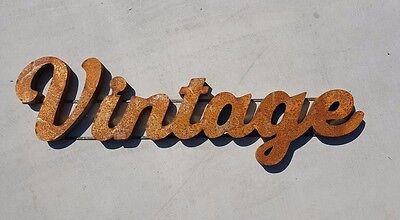 Vintage large  Rusty Industrial stlye  metal sign  USA MADE  We do CUSTOM SIGNS