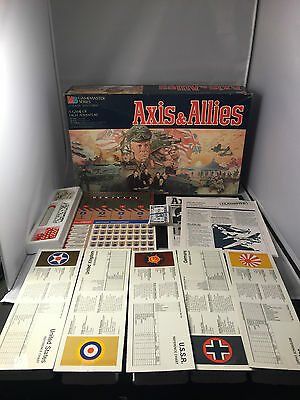 """""""Axis and Allies Milton Bradley Board Game Complete GOOD Wargame """""""
