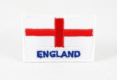 England Uk National Country Flag Medium Iron/Sew On Patch Embroidered