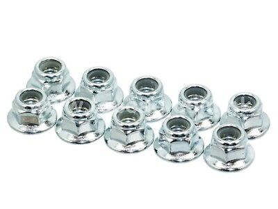 3mm steel flanged lock nuts may suit Tamiya HPI 1:10 RC anodised - SILVER