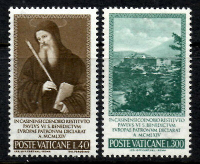 (Ref-7776) Vatican City 1965 Declaration of St.Benedict  SG.458/459  Mint (MNH)