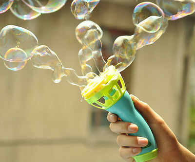 Hand Held Bubble Blower Gun Outdoor Baby Kids Play Toys