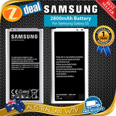 NEW REPLACEMENT BATTERY 2800mAh FOR SAMSUNG GALAXY S5 SM-G900 - SHIP FR MELB