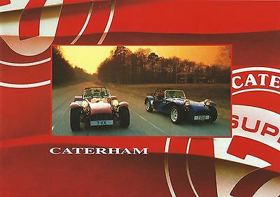 Caterham Super 7 Brochure 17 pages inc 1.8K 1.6 Superlight 1.8VVC Exc Condition