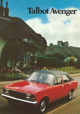 Talbot Avenger Brochure 1979 8 Pages Excellent Condition Incl LS & GL Models