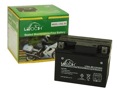 Leoch YTX4L-BS 12v 3Ah Motorcycle / Scooter / Moped Battery