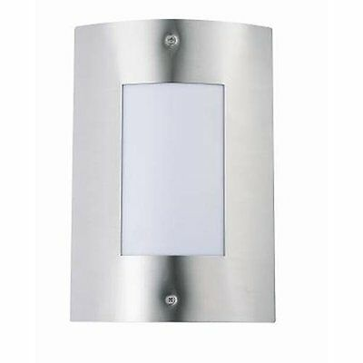 Modern Stainless Steel LED Outdoor Garden Flush Wall Lights Curved Effect