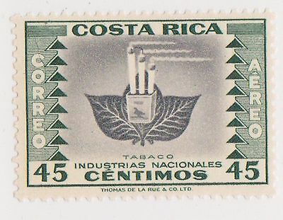 (CRA-394) 1954 Costa Rica 45c green air national industries Tobacco