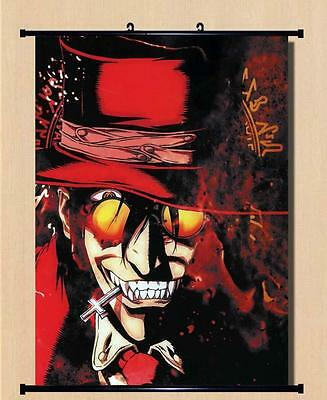 Home Decor Poster Wall Scroll Hellsing Alucard Cosplay Japanese Anime16X24inch