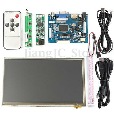 7 inch HD Touch Screen Display LCD 1024x600 HDMI Module Kit Set For Raspberry Pi