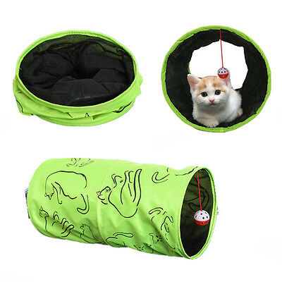 Tunnel pliable pour chat Pet Cat Toys Kitten Pet Tunnel Tente Jouer Toy Fun Cat