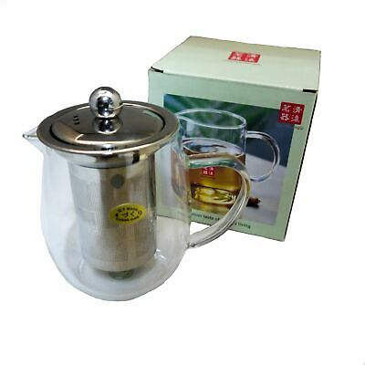 Chinese Glass Teapot Infuser Brewer Tea and Herbal Server - 600ml