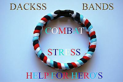 Combat Stress British Un-Official Help For Hero's Paracord WristBand Bracelet