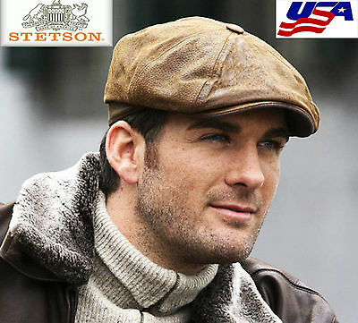 Casquette Hatteras Burney Cuir Oldleather STETSON NEW collection  Superbe PROMO