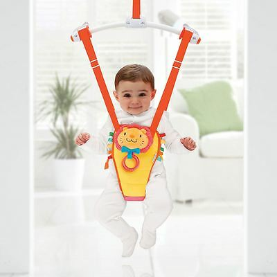 Munchkin Baby Door Bouncer Bounce and Play (Red & Yellow)