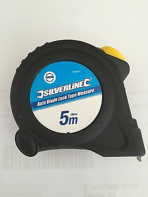 Silverline Auto Blade Lock 5M Tape Measure