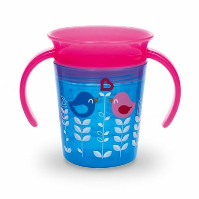 Munchkin Miracle 360 Deco Baby Sippy Trainer Cup 177ml - Pink/Blue