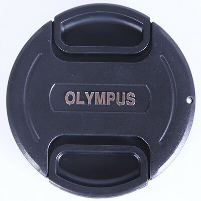 52 mm Snap On Front Lens Cap Cover Center Pinch with String for Olympus Camera