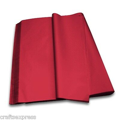 BURGUNDY Coloured Tissue Paper Acid Free Sheets 750mm x 500mm