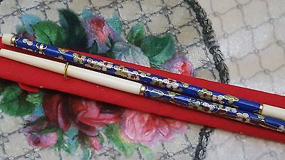 Vintage Collectible  Chinese Old Cloisonne  Chopsticks NIB