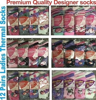 12 Pairs Ladies Women Winter Snow Warm Thermal Extra Thick Suit Socks