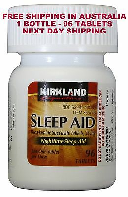 Sleep Aid Ship From Sydney Exp End 2018  Doxylamine Succinate 25 Mg  96 Tablets