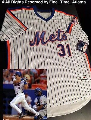 98f5668f4 Mike Piazza New York Mets 1986 Style White  Pinstrpe Men s Throwback Jersey