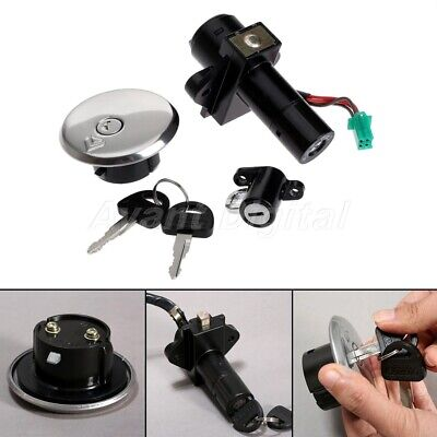 Ignition Switch Fuel Gas Cap Cover Helmet Lock Key  for Suzuki GN250 1985-2001