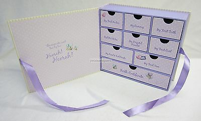 Noah's Ark Baby Memory Box Keepsake Drawers for Keepsakes, Certificate,Treasures