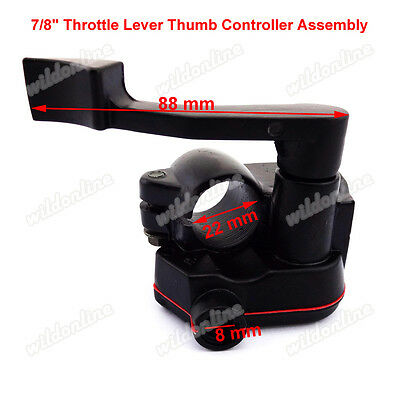 "7/8"" Throttle Lever Thumb Controller Assembly For 50 110 125 150cc ATV Qaud Bike"
