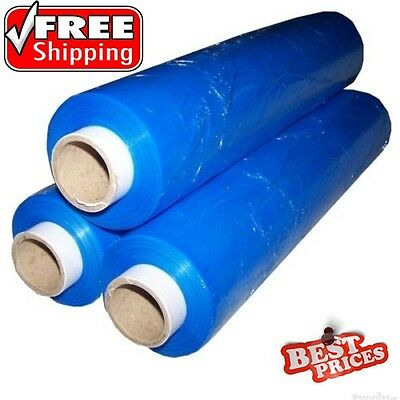 1 x BLUE QUALITY CLING PALLET STRETCH WRAP STRONG SHRINK  FILM CHEAPEST