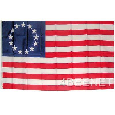 BIG 3x5 BETSY ROSS FLAG historic 13 star flag REVOLUTIONARY WAR ERA - NEW