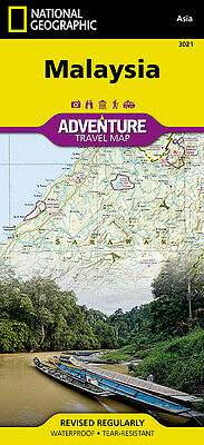 Malaysia Adventure Travel Map National Geographic Waterproof