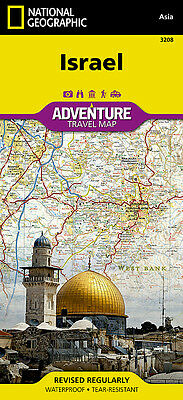 Israel Adventure Travel Map National Geographic Waterproof